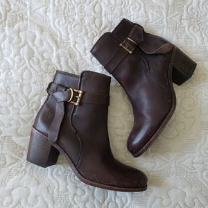 Frye Malorie Dark Brown Knotted Bootie 8.5